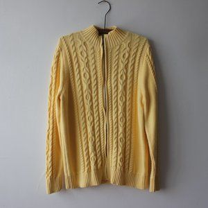 L.L. Bean Zip Up Yellow Sweater